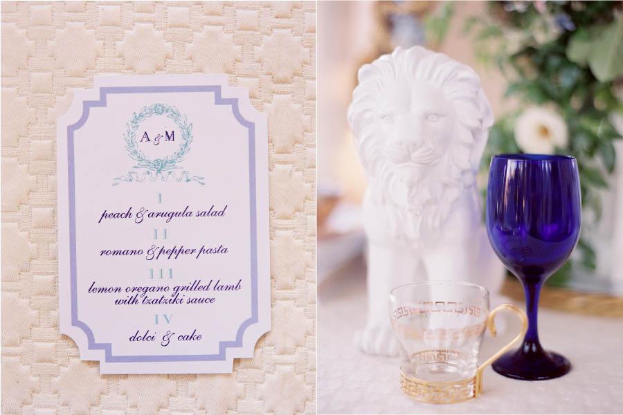 Greek Wedding Menu