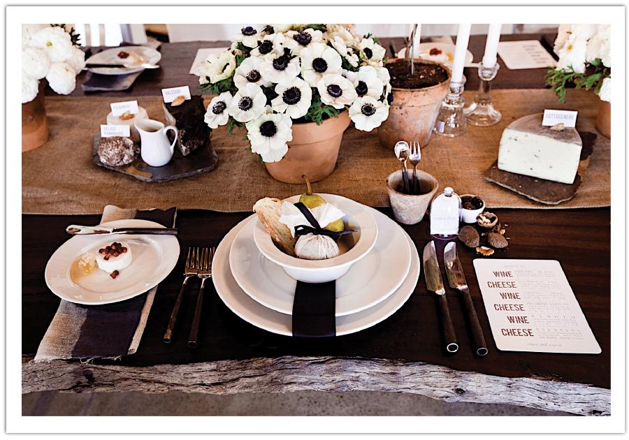 Black White Bistro Table Design