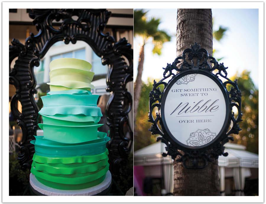 Modern Aqua Wedding cake