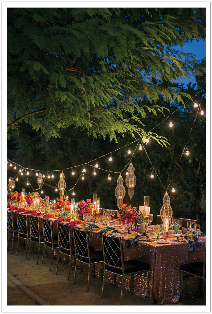 Colorful Modern Wedding Tablescape Parker Palm Springs by Alchemy Fine Events