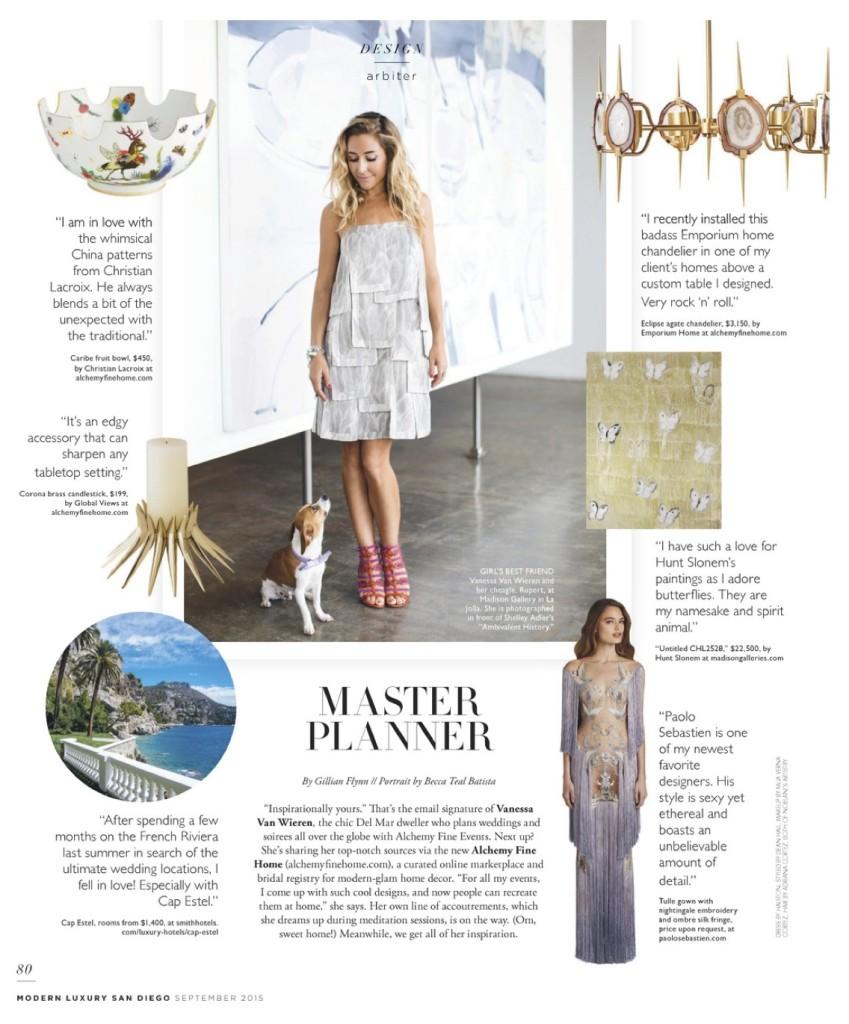Vanessa Van Wieren Alchemy Fine Events Riviera Magazine